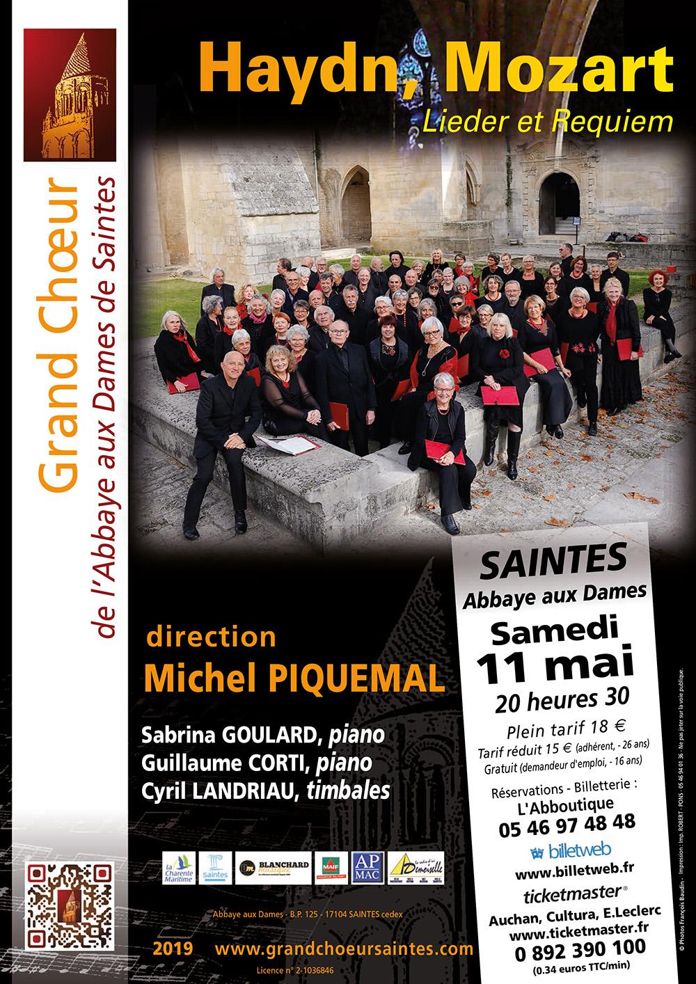 Grand Choeur Abbaye aux Dames Saintes- Concert Saintes La Rochelle Mai 2019