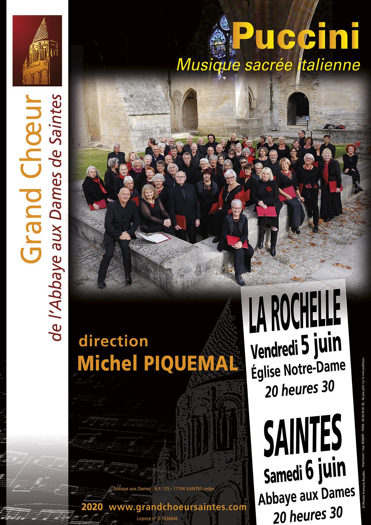 Grand Choeur Abbaye aux Dames Saintes- Concert Saintes La Rochelle Juin 2020