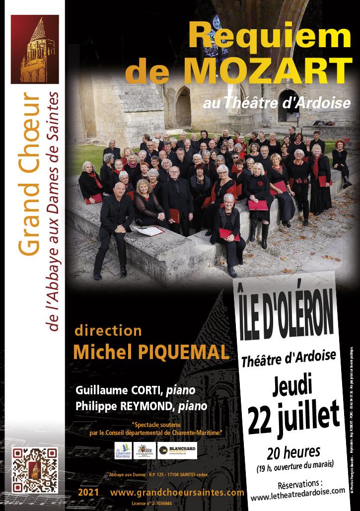 Grand Choeur Abbaye aux Dames - Concert Requiem Mozart Theatre ardoise Ile d'Oléron 22 juillet 2021