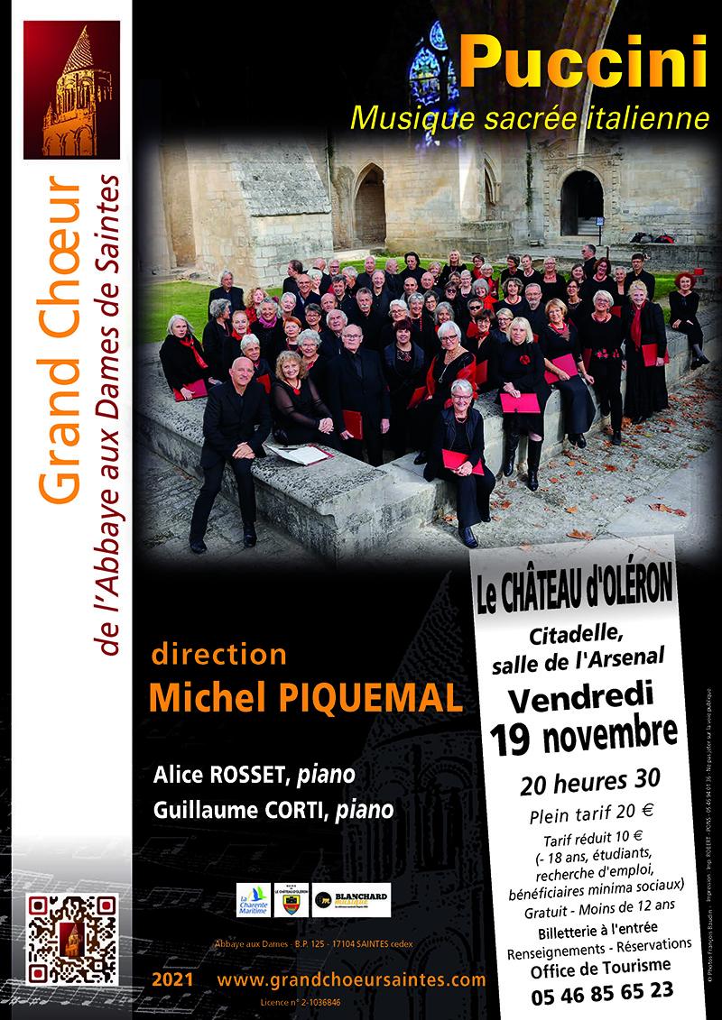 Grand Choeur Abbaye aux Dames Saintes - Concert Chateau Oleron - 19 Novembre 2021
