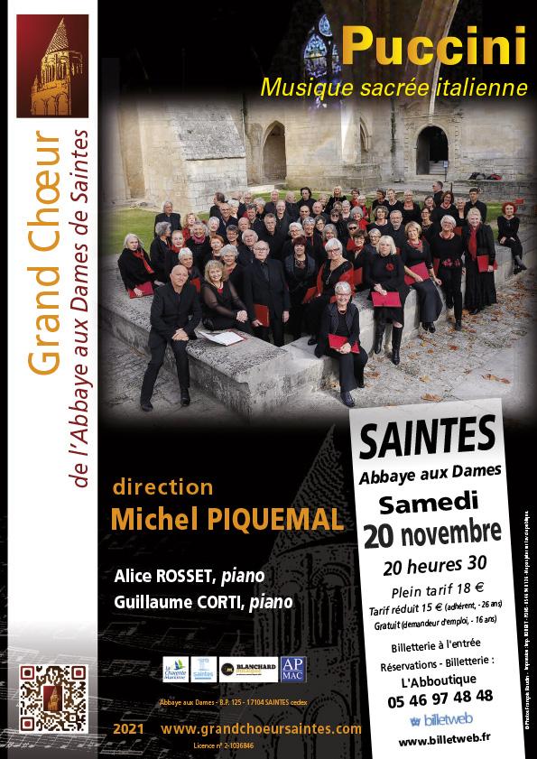 Grand Choeur Abbaye aux Dames Saintes - Concert Saintes -20 Novembre 2021
